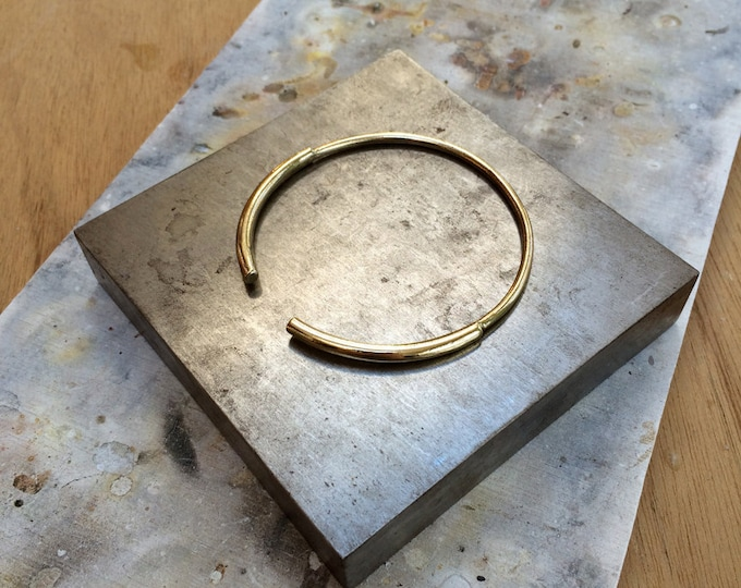 Open Bangle Bracelet in Brass