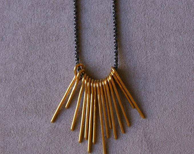 Burst Necklace in Brass