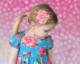 M2M Matilda Jane. Peony. Big Flower. Little Peony. Hair Clip. Peach. Pink Flower. Baby Headband. Felt Flower. Flower Crown. HB1350