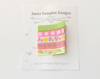 Baby Hair Clip. Everyday Clip Bright Pink. Green. Yellow. Flowers. Polka Dots. Simple Clips. Alligator Clips - Girls Clips - EC1702