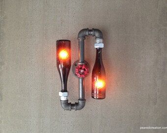 Beer Bottle Lamp Industrial Lighting Steampunk Furniture