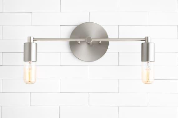 Bathroom Lighting Wall Light Vanity, Bathroom Wall Sconces Brushed Nickel