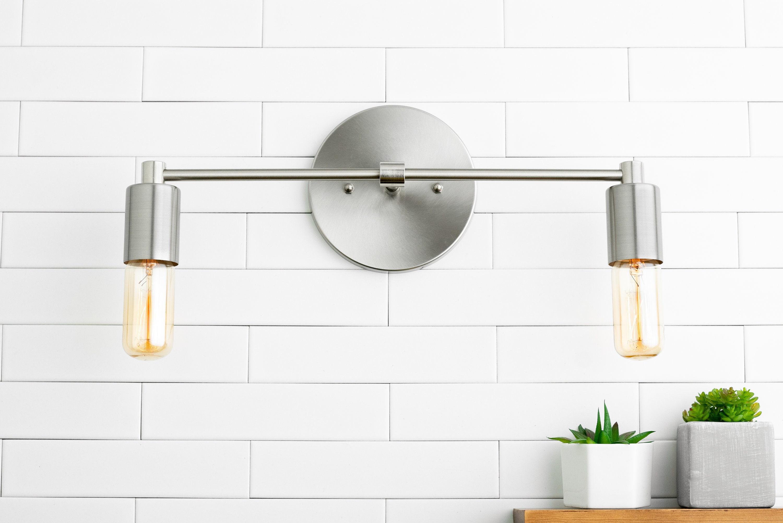 Bathroom Mirror Brushed Nickel: Bathroom Lighting Wall Light Vanity Light Brushed Nickel