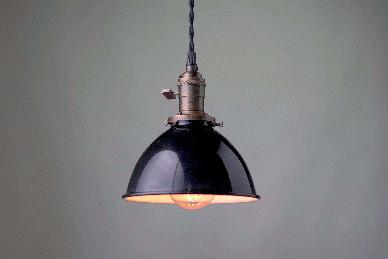 Pendant Light Industrial Shade Edison Pendant Barn Lamp Etsy