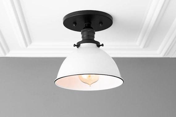 Light Fixture Semi Flush Light Farmhouse Lighting Ceiling Light Industrial Lighting Brushed Nickel Kitchen Lighting Lighting
