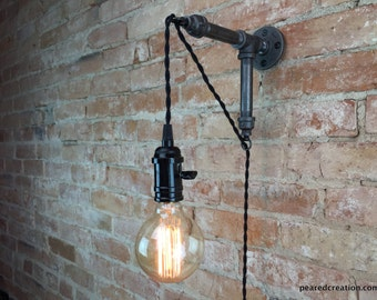 Industrial Wall Sconce - Pendant Edison - Hanging Lamp - Edison Bulb - Wall Light - Model No. 8152