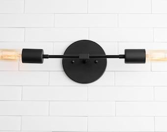 Black Vanity Light - Industrial Sconce - Wall Light - Edison Light - Industrial Lighting - Modern Industrial Lighting - Model No. 5109
