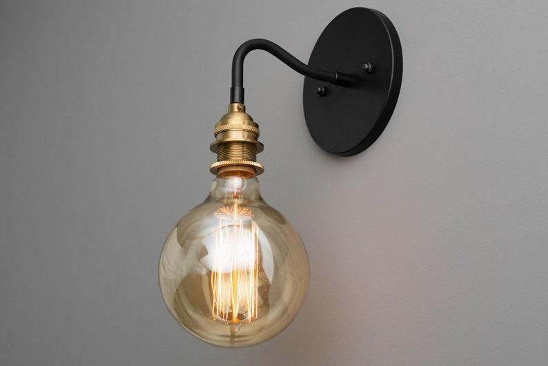 Industrielle Rustique En Murale Applique Lampe D'éclairage Steampunk Laiton Eclairage Brossé Edison ZXkiOPu