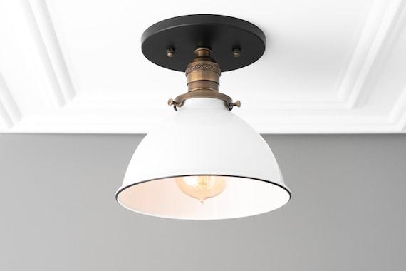 premium selection 3591f 99846 Light Fixture - Semi Flush Light - Farmhouse Lighting - Ceiling Light -  Industrial Lighting - Brushed Nickel - Kitchen Lighting - Lighting