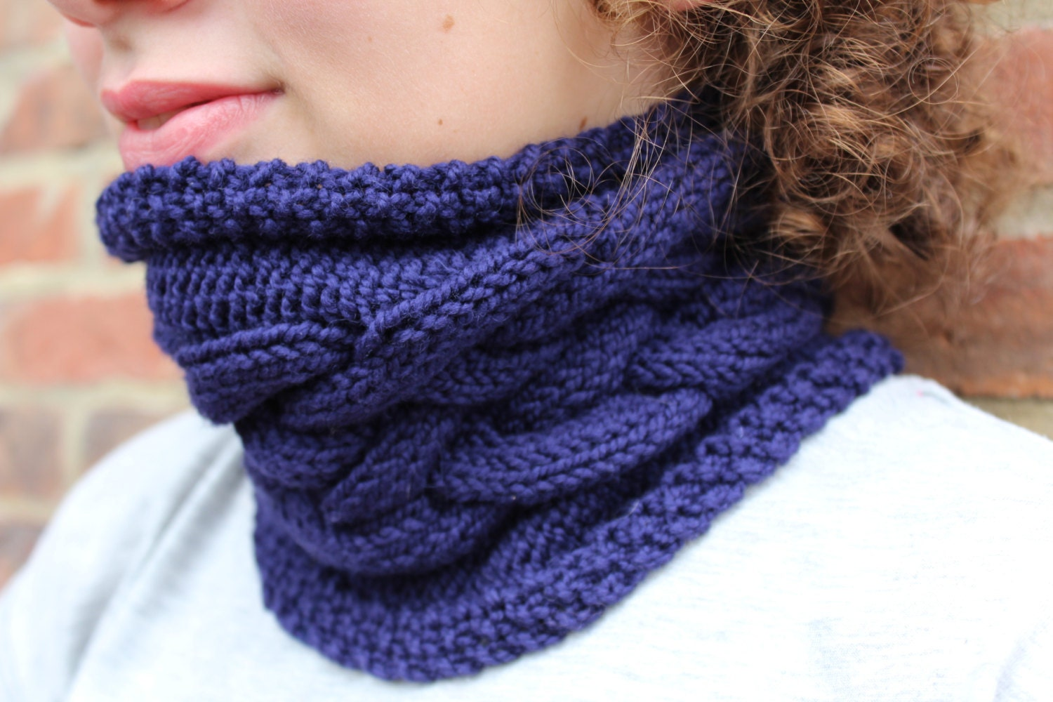 KNITTING PATTERN Cable Cowl Pattern Double Dutch Ideal for ...