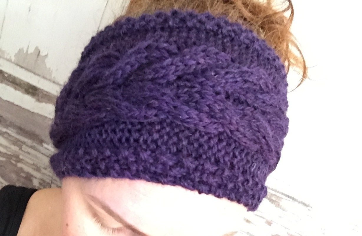 Knitting Pattern Cabled Corn Rows Headband Ear Warmer Baby