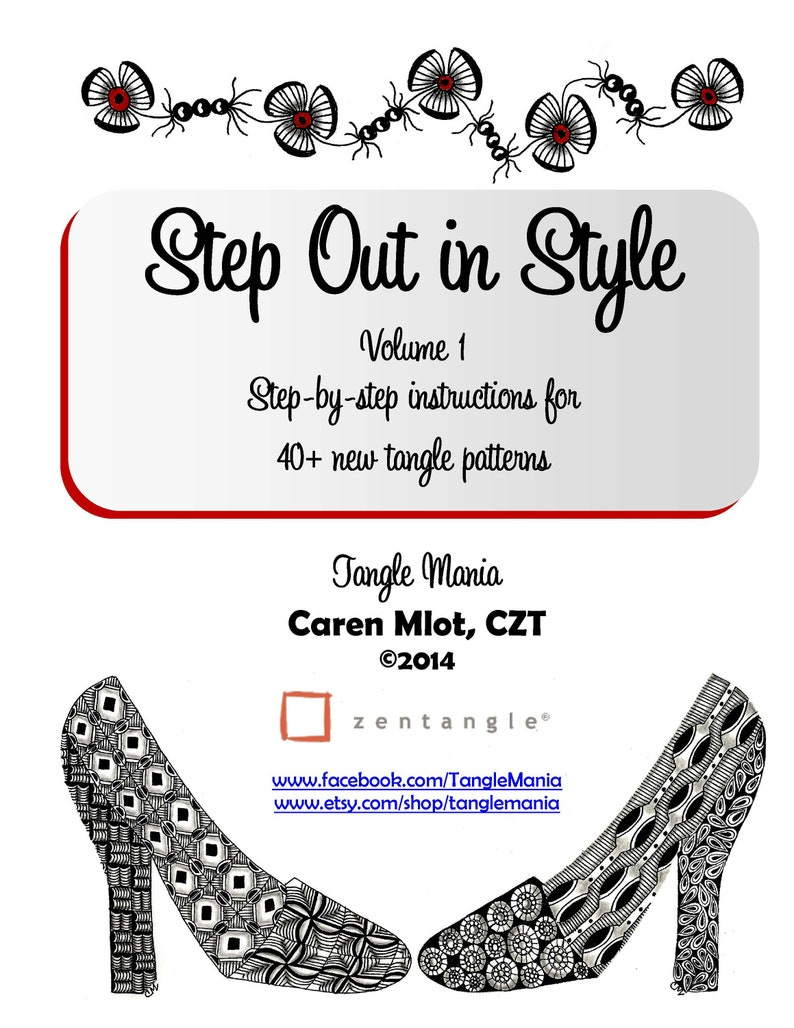 ZENTANGLE® PATTERN E-BOOK  Step Out in Style  Volume 1  image 0
