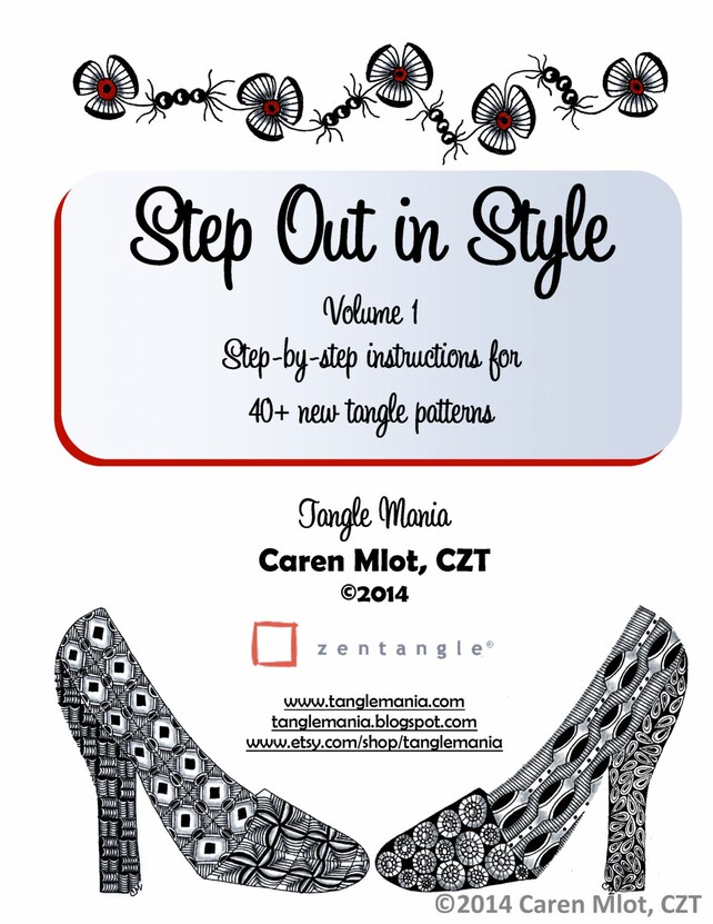 Zentangle Pattern E Book Step Out In Style Volume 1 Etsy