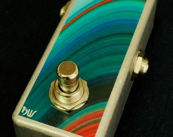 Saturnworks Momentary OR Latching Compact Kill Mute Switch Guitar Pedal -- Handcrafted in California