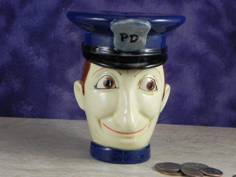 Police Bank /Cop Bank/Kids Bank/ Father's Gift/Coin image 1
