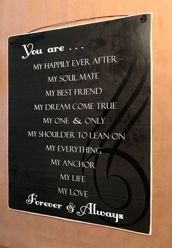 You Are My Life My Love Forever And Always Love Quote Etsy