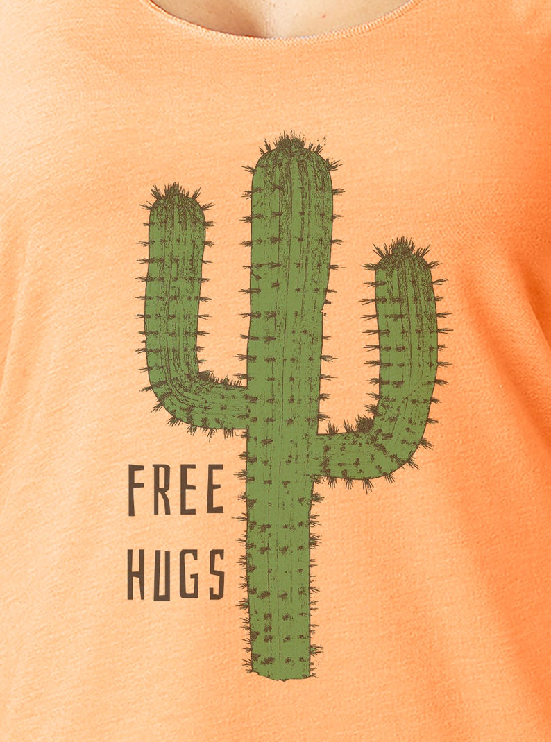 464d68c54682e2 Free Hugs Cactus Tank Top Women s Tank Tops Workout