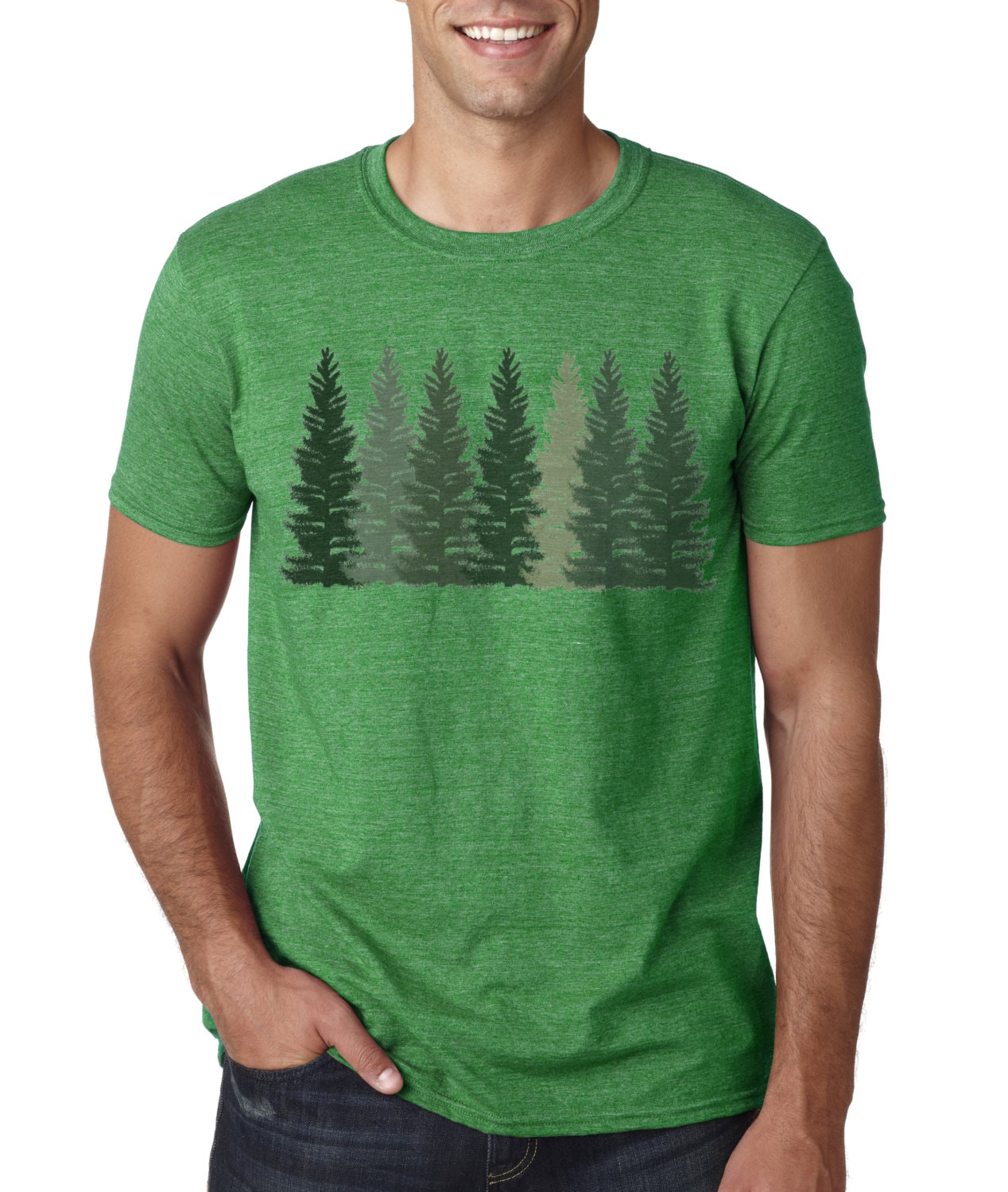 Trees T Shirt Mens T Shirt Nature Shirt Hiking Etsy