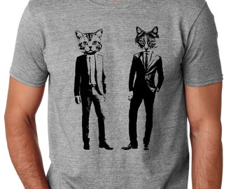 Cat Shirts | cat shirt for men | funny cat shirt | cat lover gift | cat tshirt | cats shirt | Graphic Tee | Kitty shirt | Cats in Suits