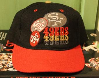 f06117a0dd829 San Francisco 49ers Snapback Hat casquette NFL Football Pro joueur chapeau  Vintage