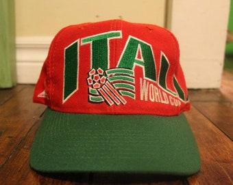 3f9f1d27ff7f46 Italy snapback vintage soccer football world cup USA 94 italia