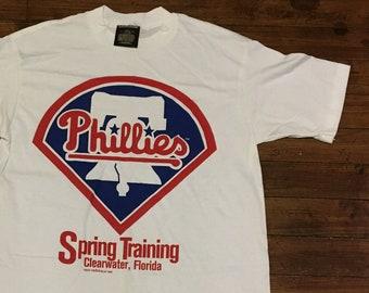 Philadelphia Phillies tshirt 1995 vintage MLB baseball spring training  graphic tee shirt florida large 89ca69fac