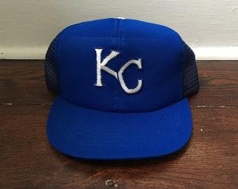 1785fd344ce98 Kansas City Royals snapback mesh trucker hat MLB baseball ted fletcher hat  blue