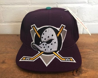 ab60061303689 Anaheim Mighty Ducks snapback hat vintage wool 3D Logo ballcap NHL hockey  hat backscript