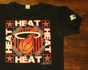 Miami Heat starter shirt vtg 1991 NBA basketball vintage graphic tee tshirt  large c6e287bda
