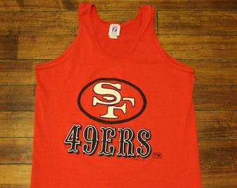 6e39590ac San Francisco 49ers shirt vintage tank top muscle shirt NFL football 1980s  graphic tee small