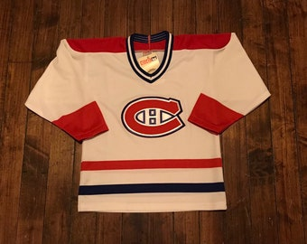 7de7686e86e Montreal Canadiens jersey vintage CCM blank NHL hockey shirt sweater home  jersey kids boys youth