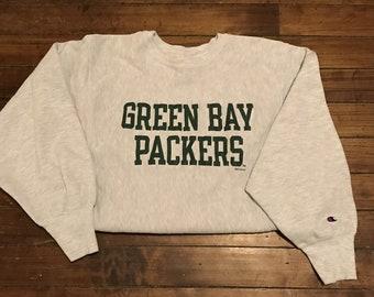 1d0eb72e305 Green Bay Packers Champion reverse weave crewneck sweatshirt NFL football  vintage 1994 Medium