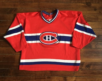 Montreal Canadiens CCM hockey jersey red vintage 1980s NHL shirt XL 3bfd06f40