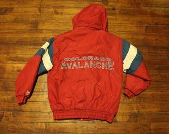 Colorado Avalanche winter jacket Logo 7 NHL hockey Roy Sakic starter coat  mens Large c553ad376