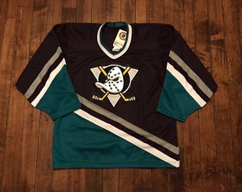 5edb1899 Anaheim Mighty ducks jersey vintage CCM away NHL hockey shirt deadstock  uniform