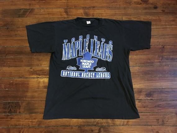 Toronto Maple leafs tshirt vintage NHL hockey shirt soft black  df5e41547