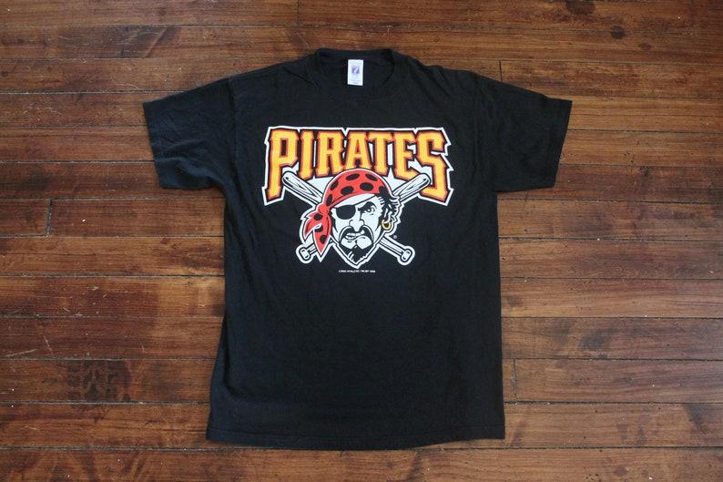 eb5bb42f552 Pittsburgh Pirates shirt vintage big logo graphic tee tshirt | Etsy