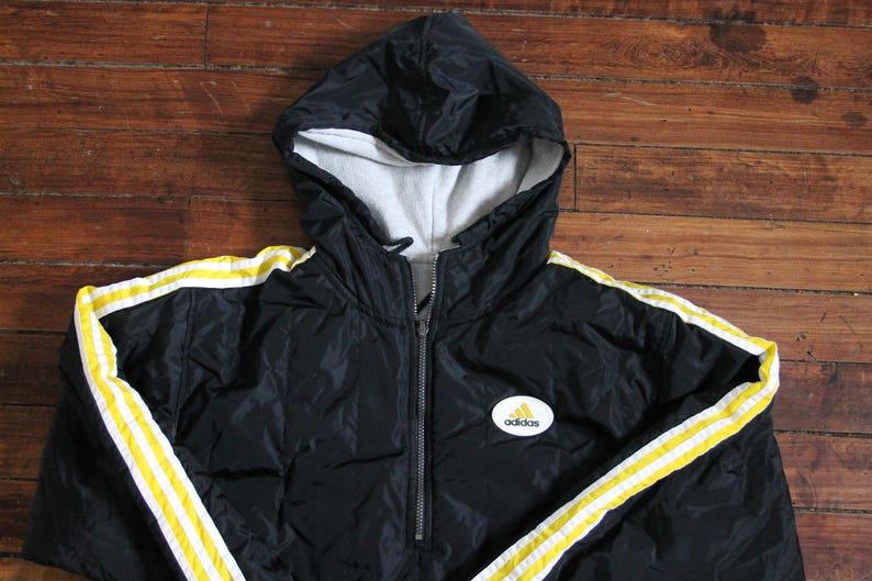 737aae225 REVERSIBLE Adidas jacket vintage reversible hoodie 3 stripes | Etsy