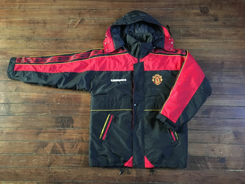 e3bfe2eb58 Manchester United winter jacket parka coat football soccer