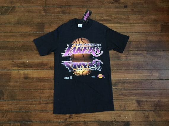 4e2861bed77 DEADSTOCK Los Angeles Lakers shirt script graphic tee intense | Etsy