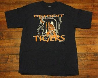 Detroit tigers shirt vintage MLB baseball graphic tee 1994 - Large