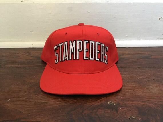 2f1a1608d80 Calgary Stampeders snapback starter arch block script hat CFL Football  ballcap