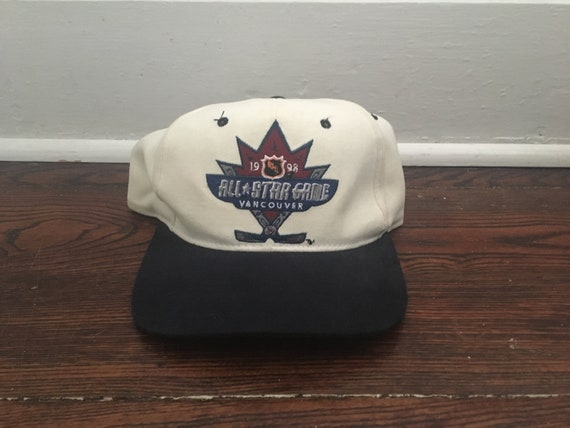cheap for discount a96d5 350ac Vancouver Canucks snapback vintage 1998 NHL hockey all star   Etsy