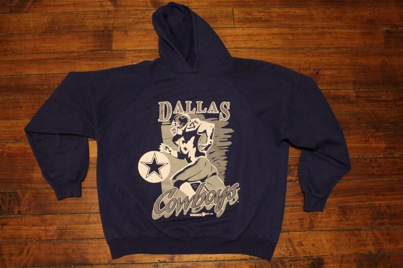huge discount be5d3 fce05 Dallas Cowboys hoodie vintage sweatshirt shirt 1993 NFL football