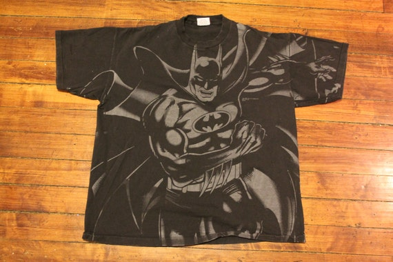 287338afd26c Batman shirt 1993 DC comics graphic tee double sided tshirt XL
