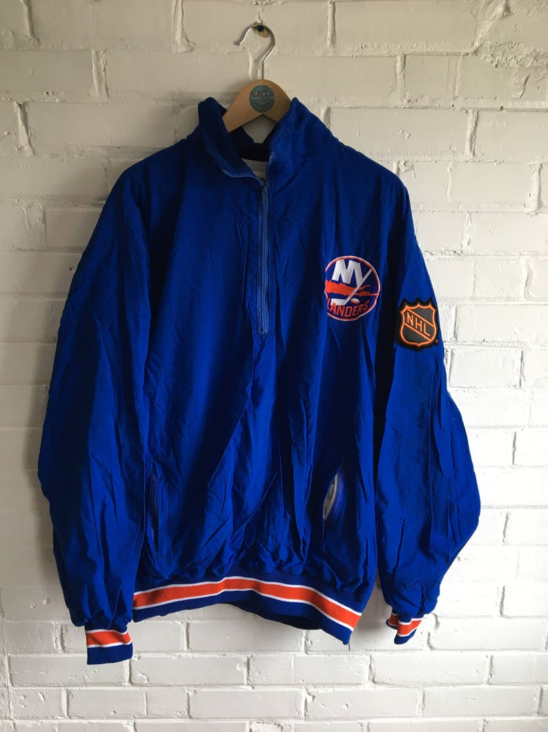 8c0728f7 New York Islanders pullover windbreaker quarter zip jacket NHL | Etsy
