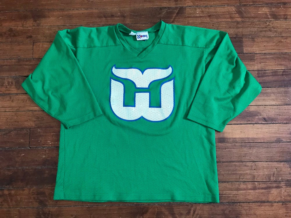 c3c156a6 Hartford Whalers jersey vintage mesh NHL hockey shirt Kobe   Etsy
