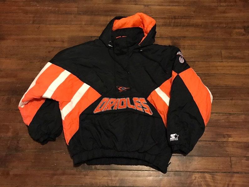 c20d6cb49f3c2 Baltimore Orioles Starter Jacket vintage MLB baseball pullover