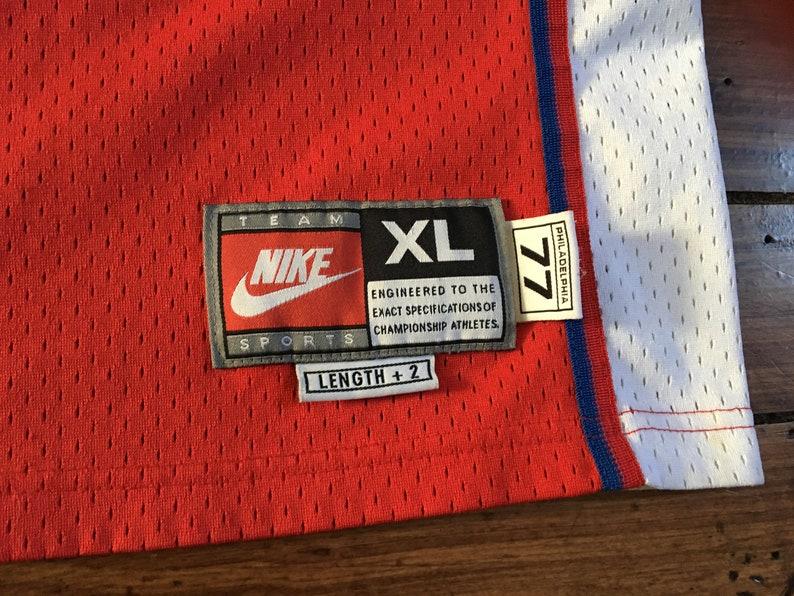 73dc150f7 Philadelphia 76ers Iverson vintage nike basketball Jersey red