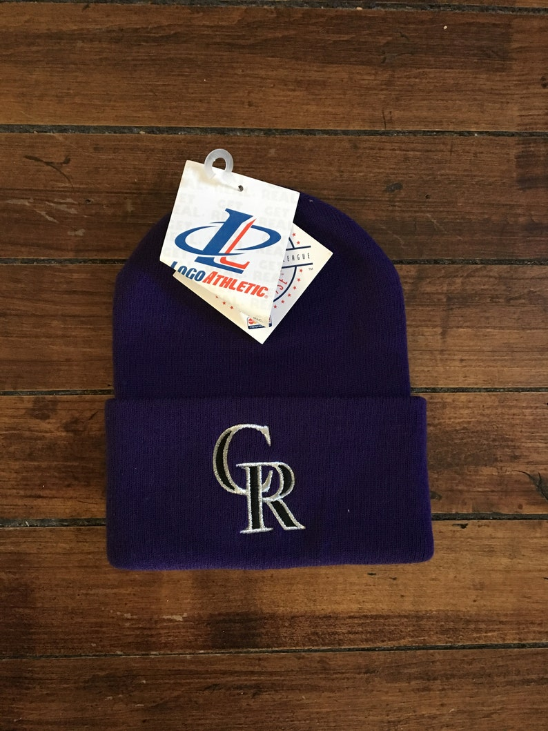 5a028f523fb4a DEADSTOCK Colorado Rockies winter knit beanie touque MLB